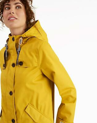 Joules Womens Coast Waterproof Coat in ANTIQUE GOLD Size 10