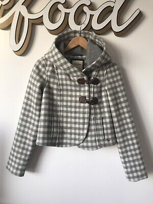 Abercrombie And Fitch Ladies Girls Wool Blend Short Duffle Coat Jacket XL 6-8