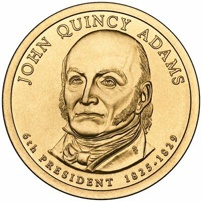 """2008 US - Presidential coins - 2 Coin Set - """"P"""" And """"D"""" Mint -JOHN QUINCY ADAMS"""