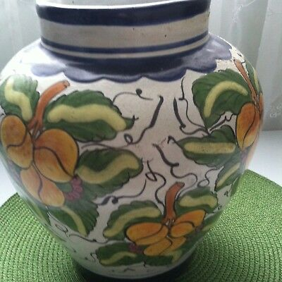 Vintage Mexican,,Talvera''old Spanish Colonial Faience Mojalica Pottery-Signed