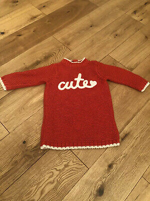 Mothercare Red Baby Girls Dress 3/6 Months