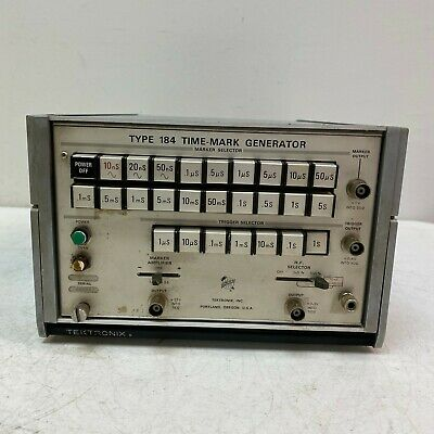TEKTRONIX TYPE 184 Time-Mark Generator w/ Stand Tested and Working