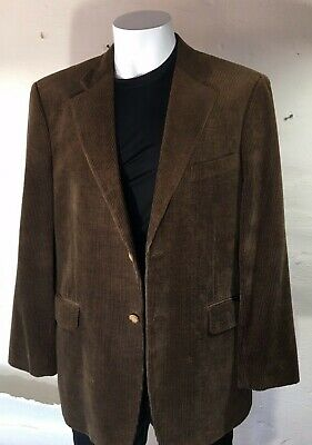 Nordstrom Bamboo Corduroy Sport Jacket, Brown - Mens 46,  2-Button 2-Vent  EUC