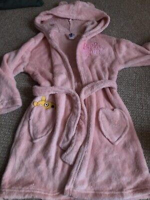 Peppa Pig Dressing Gown Robe From Peppa Pig World Age 2-3 Perfect For Christmas