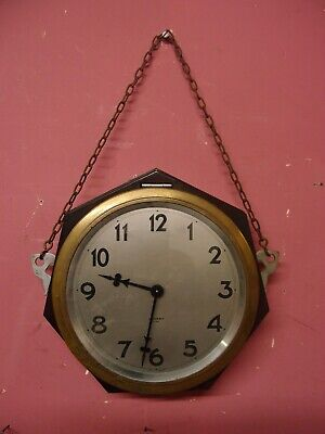 "ANTIQUE 1930's FRENCH ""BAYARD"" KITCHEN WALL DIAL CLOCK ART DECO BAKELITE CASE"