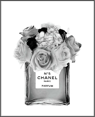 Coco Chanel Print Perfume Wall Art Home Decor Picture Bedroom Xmas Gift A4