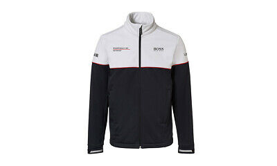 Porsche Motorsport Hugo Boss Men's Soft Shell Jacket Black White Motorsport