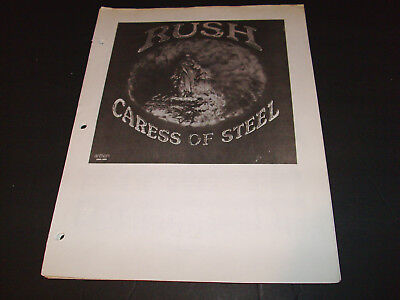Rush -- Sheet Music -- Caress Of Steel -- Piano / Vocal / Guitar