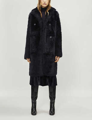 New Joseph Shearling Fur Long Hector Teddy Coat - RRP £2190