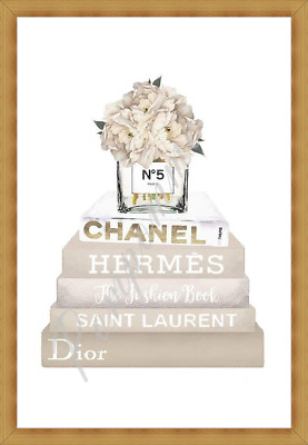 Coco Chanel Perfume Fashion Print Wall Art Picture Home Decor Bedroom Gift A4