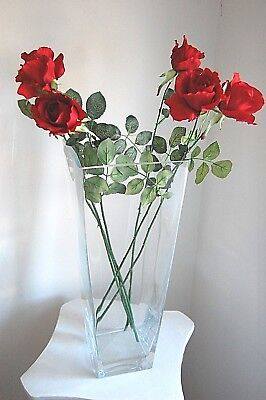 "6 Magnificent Silk Red Roses with 27"" Thorn Stems  - JaNice Interiors Botanicals"