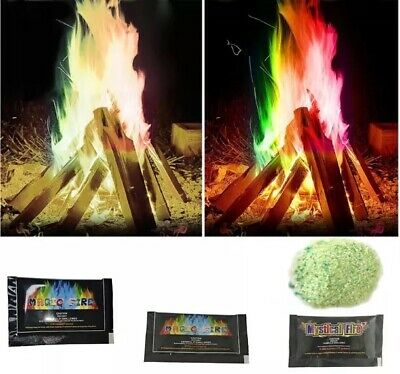 Mystical Magic Colour Fire 25g Campfire Colourful Flames pack Aussie Shipping!
