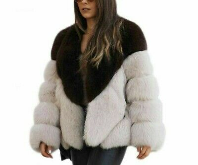 Soft Faux Fur Winter Coat Vintage Long Sleeves Overcoat Thick Warm Fluffy Jacket
