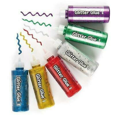 Baker Ross Jumbo Glitter Glue (Pack of 6) For Kids To Decorate, Arts and...
