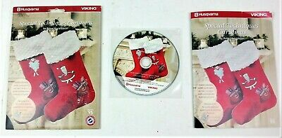 Husqvarna Viking Special Techniques Christmas Embroidery Designs CD ROM Booklet