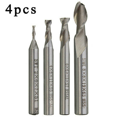 High Speed Steel+Aluminum End Milling Cutter Engraving Silver Metalworking