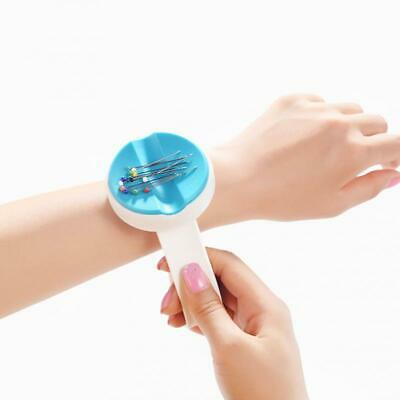 Magnetic Wrist Wear Needle Box Plastic DIY Round Sewing Needle Case Pin Cus C8R7