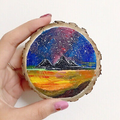 50Pcs Christmas Tree Ornaments DIY Natural Wood Slices Festival Decorations Gift