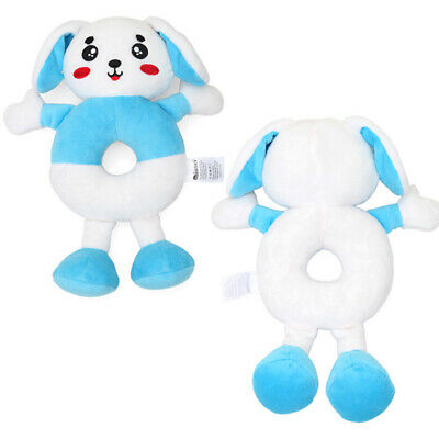 Lovely Baby Hand Rattle Soft Plush Mobile Toddler Cartoon Animals Bell Toys 6N