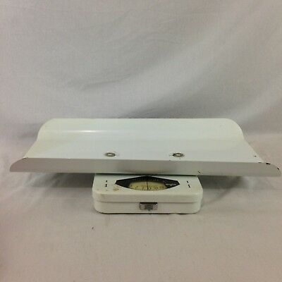 Vintage Borg Baby Infant Nursery Weight Scale Capacity 30 Pounds By Ounces
