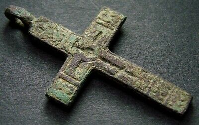 ANCIENT BIG BRONZE CROSS. RELIGIOUS ARTIFACT 16 - 17 CENTURY. 43 mm. (R.044)