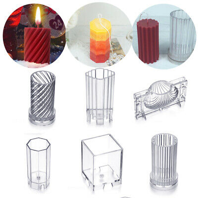 Plastic Clear Handmade Cake Decoration Soap Molds Candle Mold Clay Tools