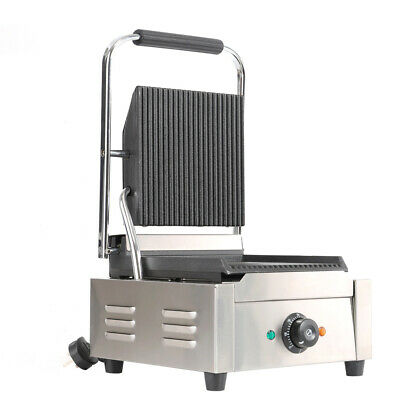 Stainless Steel Commercial Panini Press Grill Sandwich Toastie Maker Machine UK