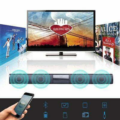 Wireless Bluetooth Soundbar TV 4 Speaker Home Theater Subwoofer Sound Bar Stereo