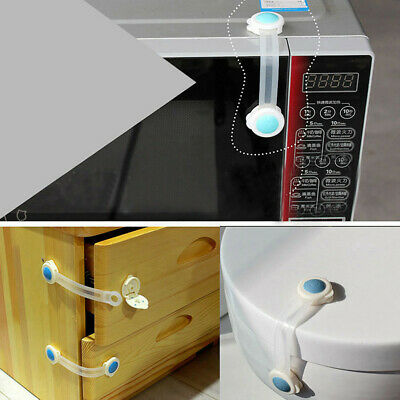 Kid Baby Child Cupboard Cabinet Security Locks Pet Proofing Door Drawer Fridge