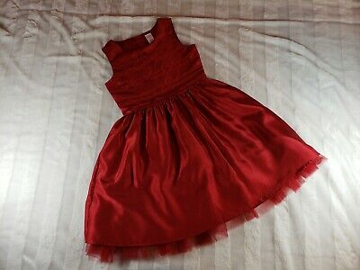 Girls Gymboree Very Merry Red Sequin Tulle Holiday Christmas Party Dress 10 LN