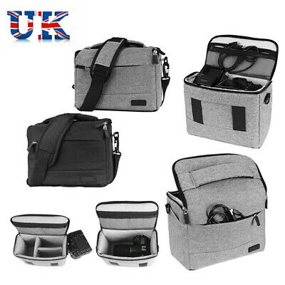 DSLR SLR Camera Bag Waterproof Canvas Carry Insert Pouch Case For Canon Nikon UK
