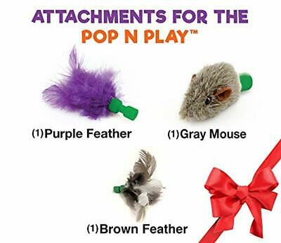 Allstar Innovations Pop N' Play Interactive Motion Cat Toy, Includes: Electron
