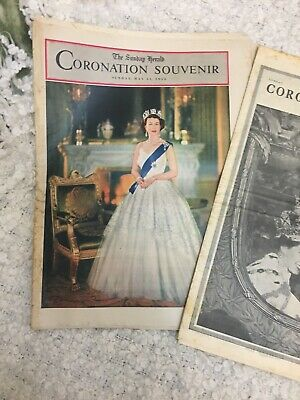 1953 Coronation Souvenir 3 Magazines & Newspapers In Very Good Condition .