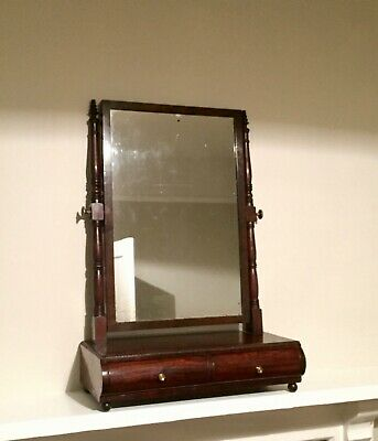 Antique George III George IV Mahogany Gillows style table mirror dressing mirror