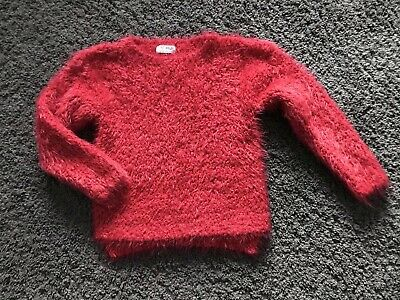 Girls Next Red With Red Glitter Detail Fab Cosy Jumper  Age 5 Years *Christmas*