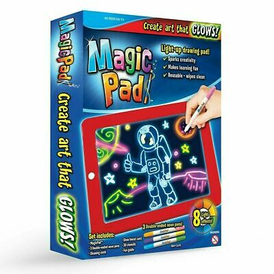 Magic Pad Light Up Drawing Pad with Neon Pens Creative Glow Art Light Effect
