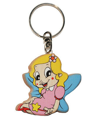 Keychain - Fee / Elf / Princess with Star - Very Stable Made Varnished