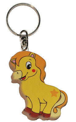 Keychain - Horse/Pony - Very Stable Made Lacquered Wood - Pendant For
