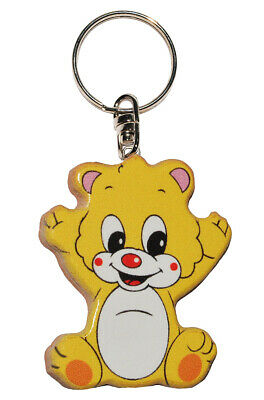 Keychain - Teddy / Teddy Bear - Very Stable Made Lacquered Wood - Anh