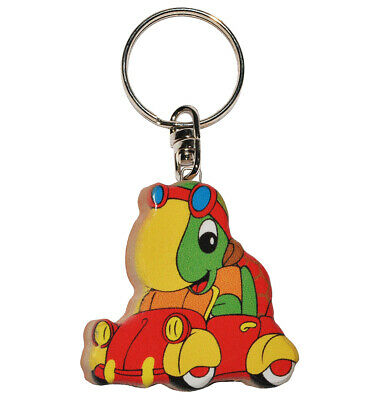 Keychain - Turtle in Car - Very Stable Made Lacquered Wood - Pks