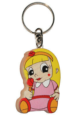 Keychain - Princess/Girl with Rose - Very Stable Made Lacquered H