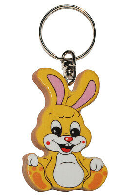 Keychain - Rabbit/Bunny - Very Stable Made Lacquered Wood - Pendant