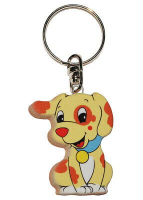 Keychain - Dog/Puppy - Very Stable Made Lacquered Wood - Pendant For