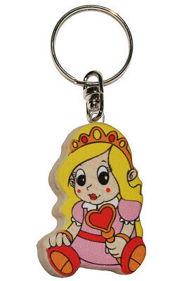 Keychain - Princess/Girl with Heart - Very Stable Made Lacquered H