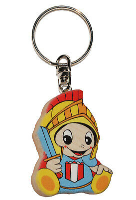 Keychain - Ritter/Knight's Castle - Very Stable Made Lacquered Wood - Pks