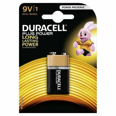 Pile Duracell Plus Power 6LR61 9V-Block lot 9V  Alkaline