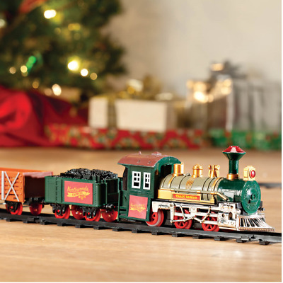 Classic Around The Christmas Tree Train Set Decoration Music Sound & Lights