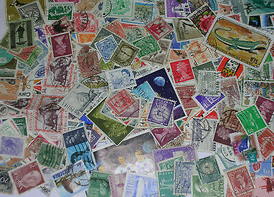 2000+ Stamps-----World Off Paper Mixture----- Kiloware
