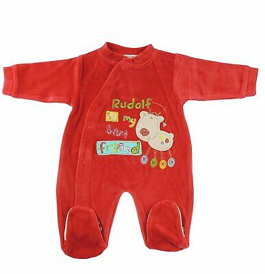 Baby Girls Christmas Red Romper All in One Rudolf is My Best Friend