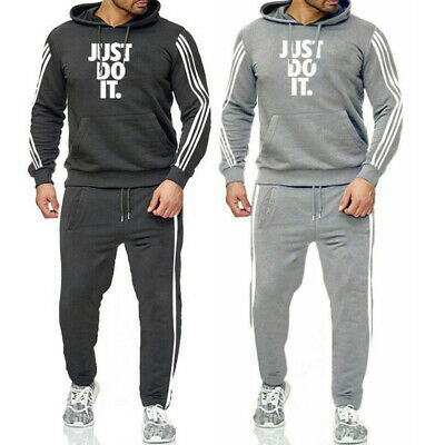 Men's Tracksuits Set JUST DO IT Sweatshirts Pullover Pants Running Suit Sports